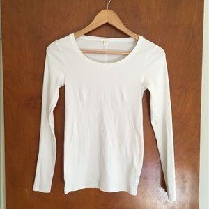 Cos white basic long sleeve